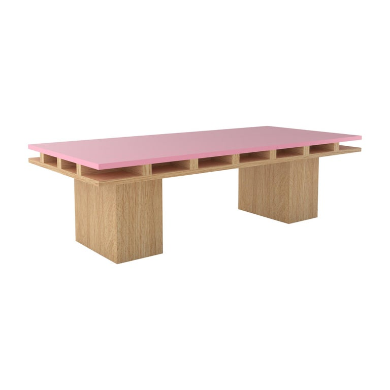 Contemporary 101C Coffee Table in Oak and Color by Orphan Work, 2020 For Sale
