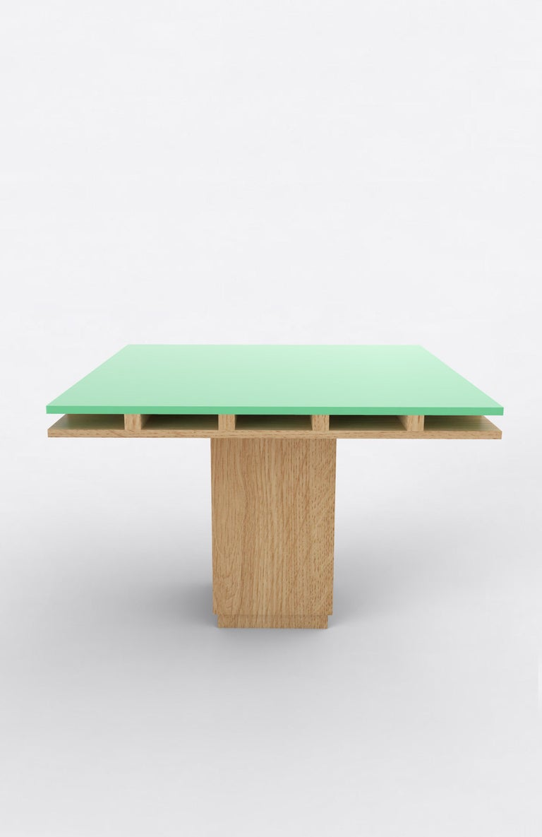 Post-Modern Contemporary 101C Dining Table in Oak and Color by Orphan Work, 2019 For Sale