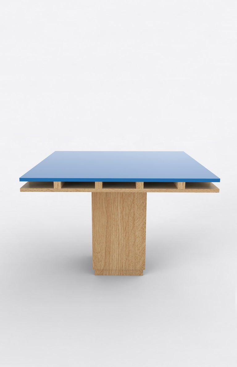 Contemporary 101C Dining Table in Oak and Color by Orphan Work, 2019 In New Condition For Sale In New York, NY