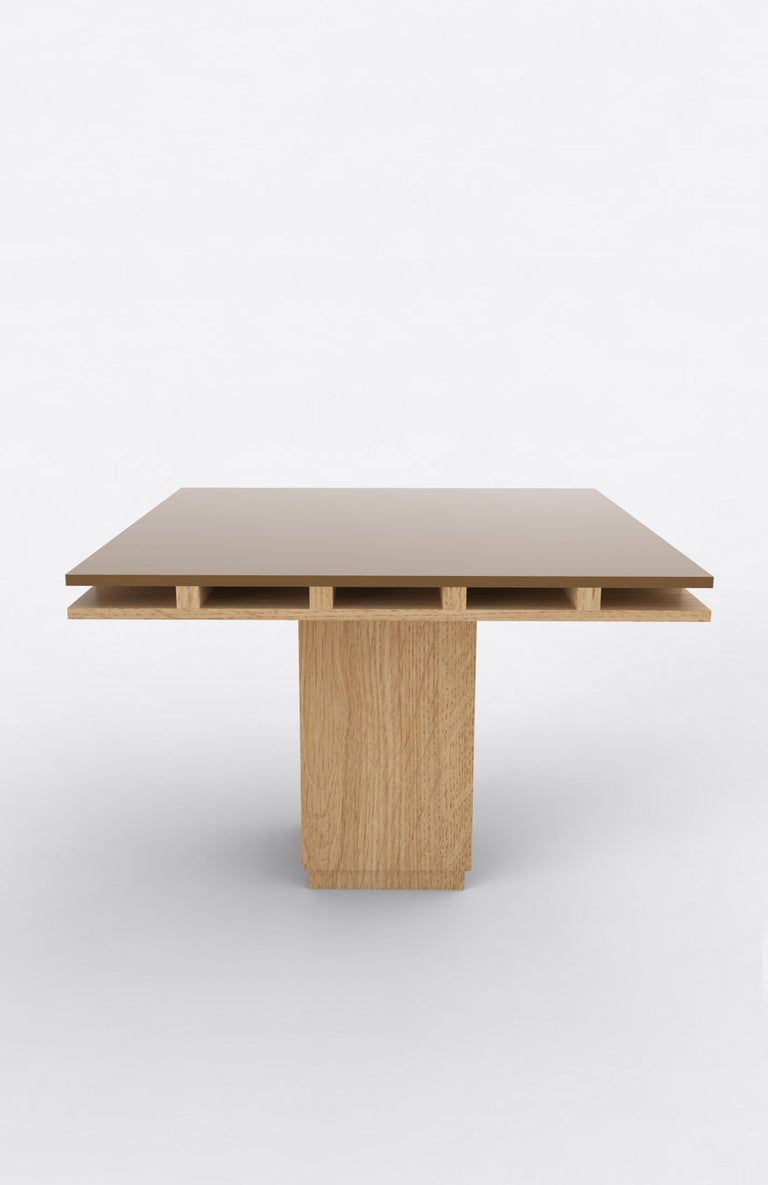 Contemporary 101C Dining Table in Oak and Color by Orphan Work, 2019 For Sale 1