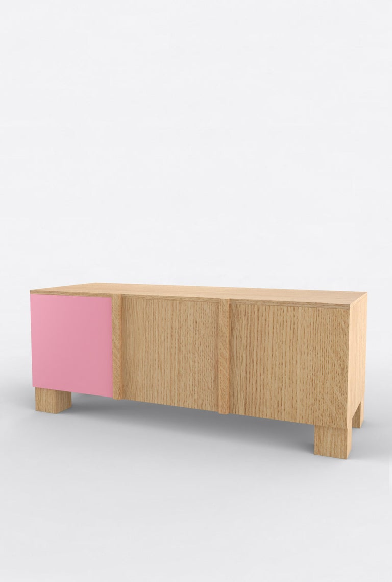 Post-Modern Contemporary 101C Storage in Oak and Color by Orphan Work, 2020 For Sale