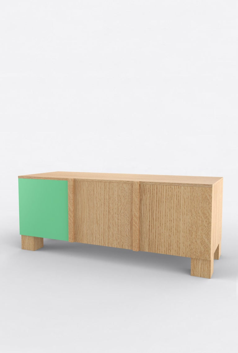 American Contemporary 101C Storage in Oak and Color by Orphan Work, 2020 For Sale