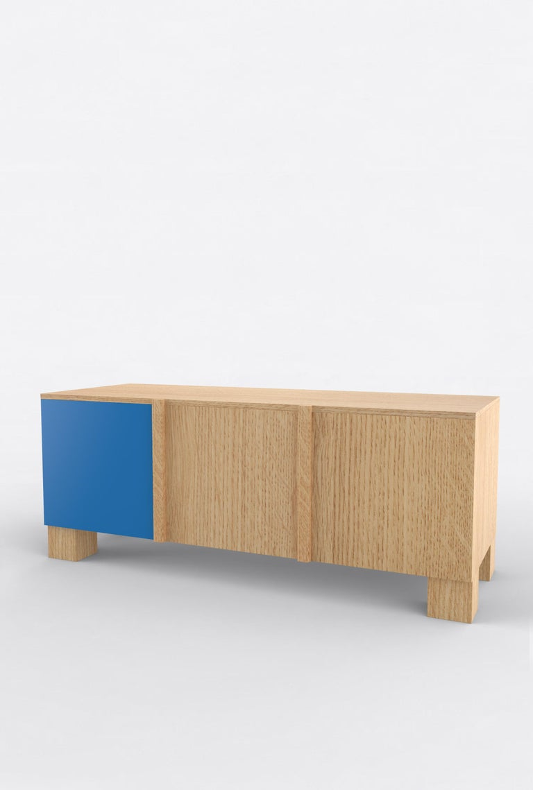 Contemporary 101C Storage in Oak and Color by Orphan Work, 2020 For Sale 1