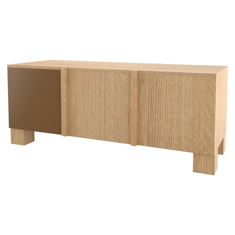 Contemporary 101C Storage in Oak and Color by Orphan Work, 2020 For Sale