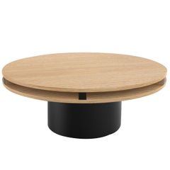 Contemporary 102 Coffee Table in Oak and Black by Orphan Work, 2019