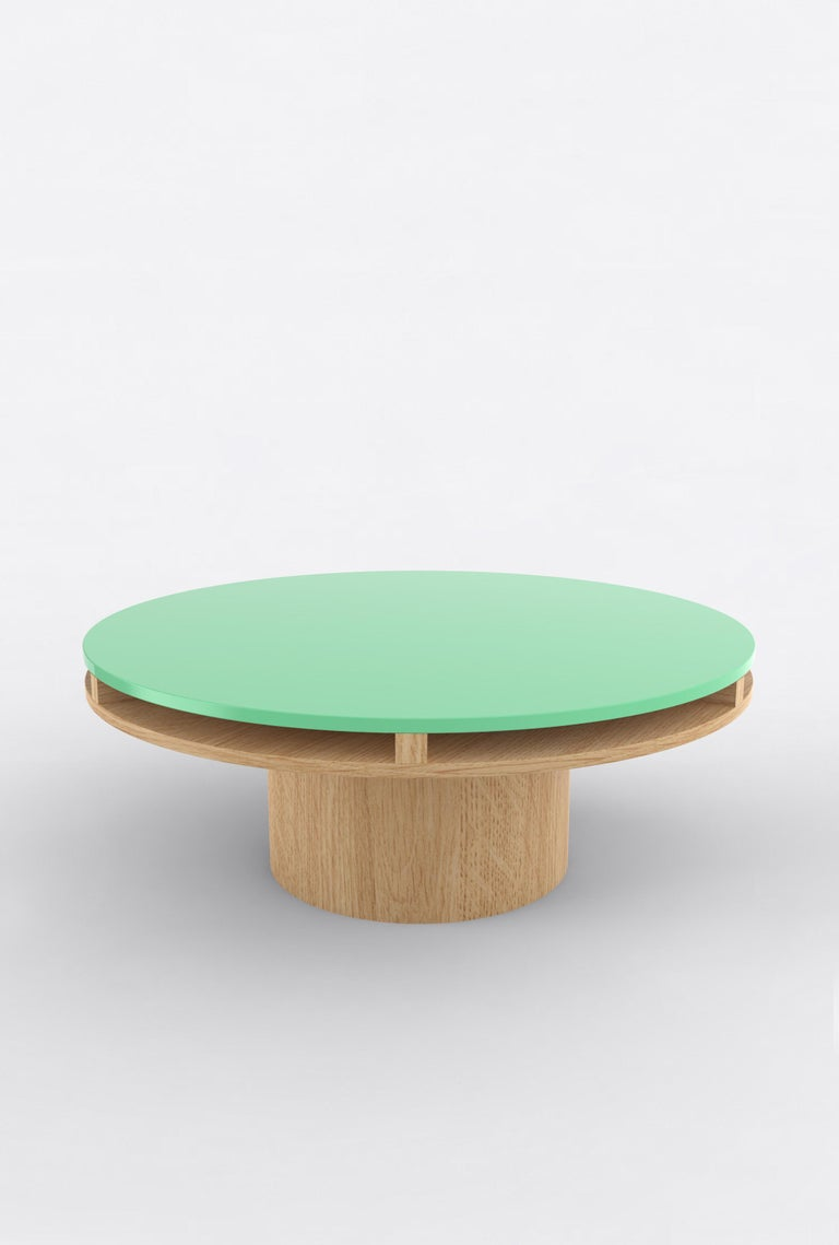 Post-Modern Contemporary 102 Coffee Table in Oak and Color by Orphan Work, 2020 For Sale