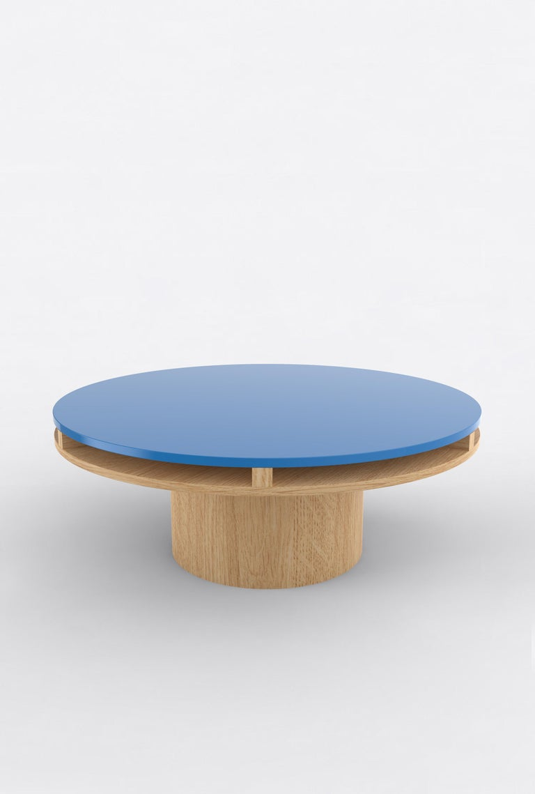 Contemporary 102 Coffee Table in Oak and Color by Orphan Work, 2020 In New Condition For Sale In New York, NY