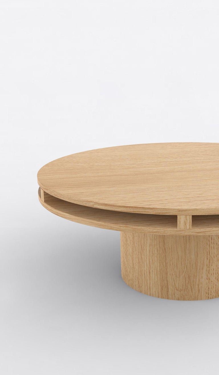 Post-Modern Contemporary 102 Coffee Table in Oak by Orphan Work, 2019 For Sale