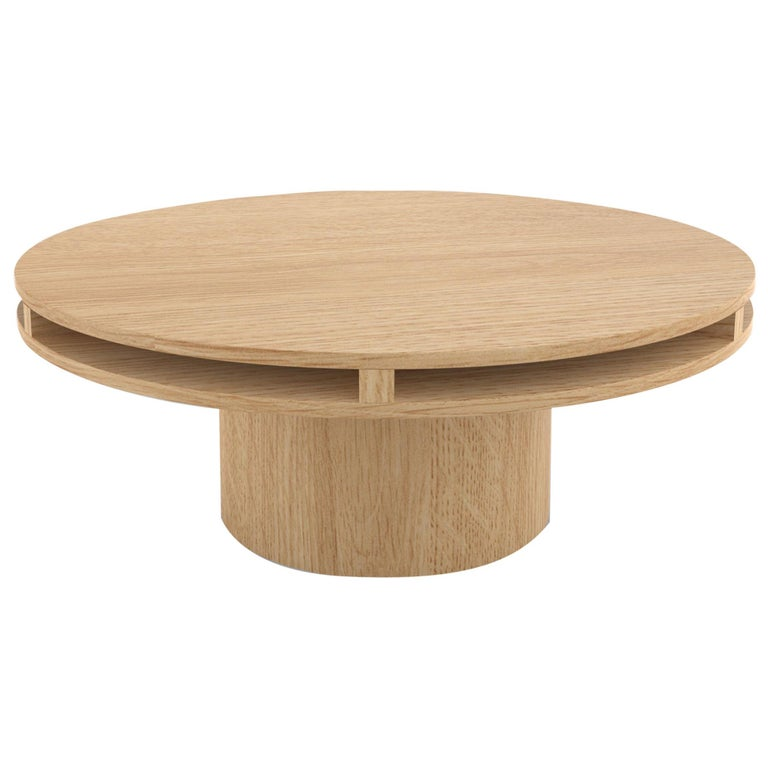 Contemporary 102 Coffee Table in Oak by Orphan Work, 2019 For Sale