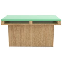 Contemporary 102 End Table in Oak and Color by Orphan Work, 2020