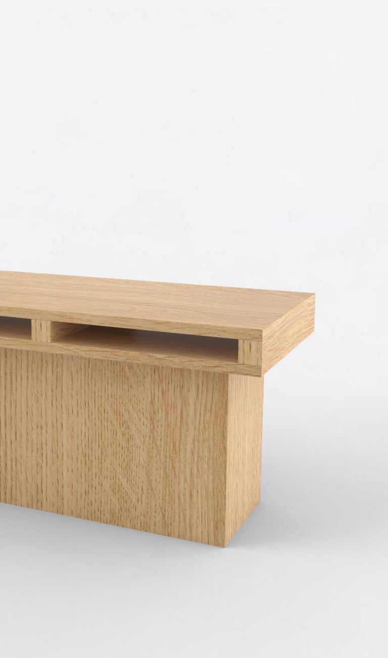 Post-Modern Contemporary 102 End Table in Oak by Orphan Work, 2019 For Sale