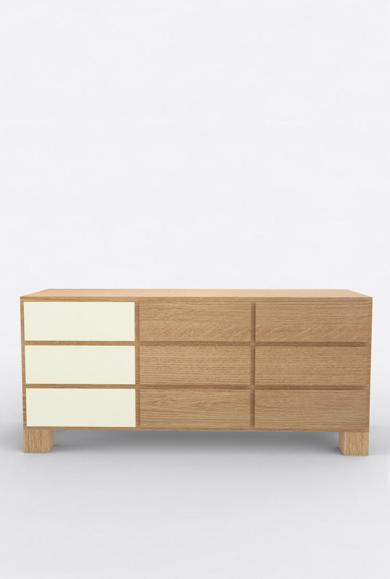 American Contemporary 102 Storage in Oak and White by Orphan Work, 2019 For Sale