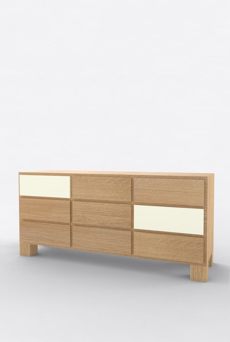 Post-Modern Contemporary 102 Storage in Oak and White by Orphan Work, 2019 For Sale
