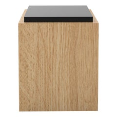 Contemporary 103 Side Table in Oak and Black by Orphan Work