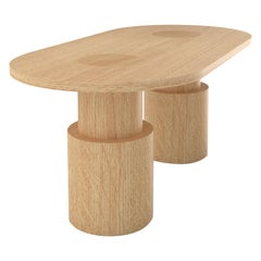 Contemporary 104 Dining Table in Oak by Orphan Work, 2020