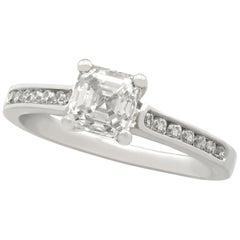 1.19 Carat Diamond and Platinum Solitaire Ring