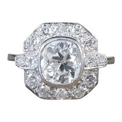 Contemporary 1.21 Carat Cushion Cut Diamond Cluster in 18 Carat White Gold