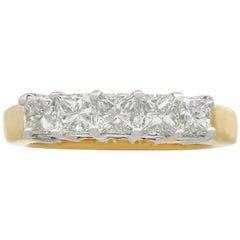 Contemporary 1.53 Carat Diamond Five-Stone Yellow Gold Ring, circa 2000