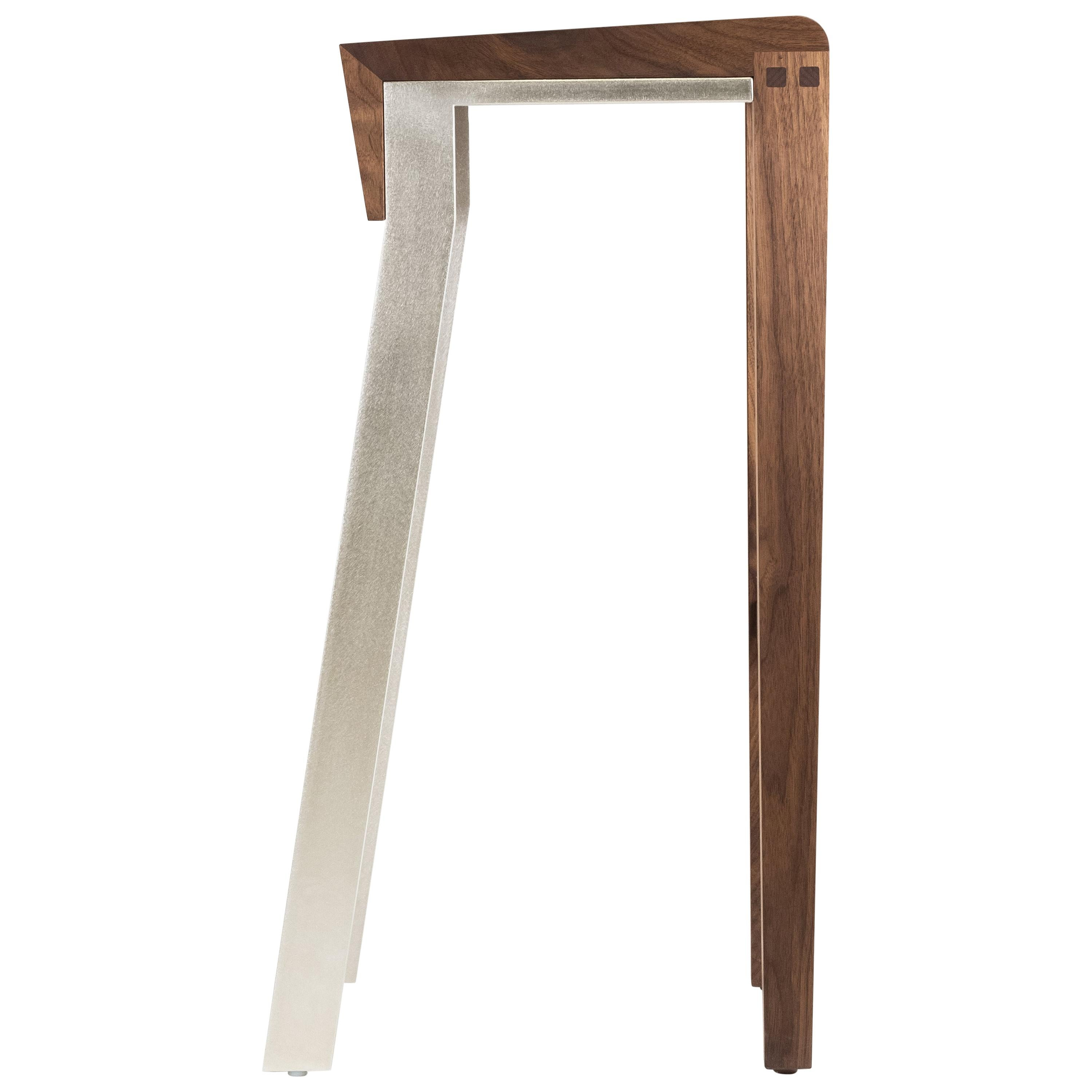 Contemporary Bar Stool Walnut or Oak Counter Stool by Stacklab