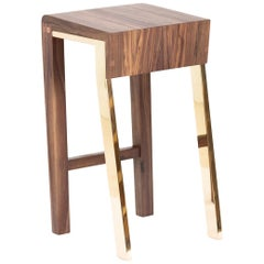 Contemporary 1.6 Counter Stool Walnut or Oak Counter Stool by Stacklab