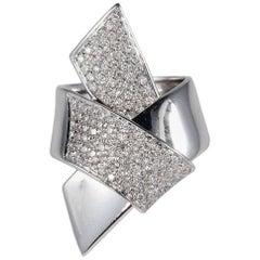 Contemporary 1.70 Carat Diamond Large Designed Bow Ring