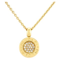"Contemporary 18 Karat ""BVLGARI BVLGARI"" Diamond Necklace"