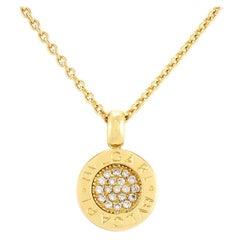 """Contemporary 18 Karat """"BVLGARI BVLGARI"""" Diamond Necklace"""