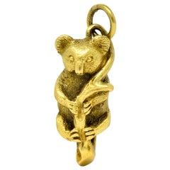 Contemporary 18 Karat Green Gold Realistic Koala Charm