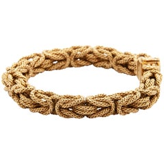 18 Karat Gold Braided Chain Bracelet