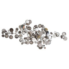 Contemporary Re-edition Curtis Jere Raindrops Wall Sculpture In Chrome