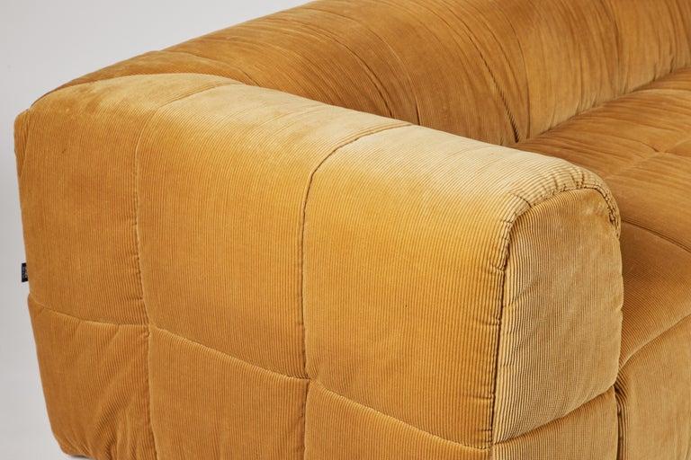 Contemporary 1970s Style Italian Arflex Strips Corduroy Sofas, Set of 2 6