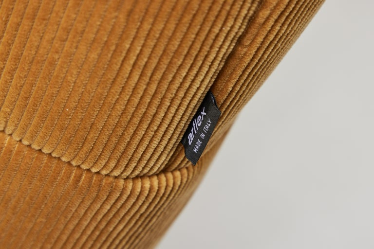 Contemporary 1970s Style Italian Arflex Strips Corduroy Sofas, Set of 2 3
