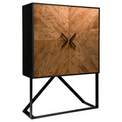 Contemporary 2 Doors High Sideboard in Cinnamon by Larissa Batista