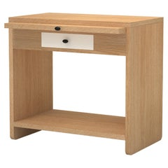 Contemporary 200 Bedside in Oak and White by Orphan Work