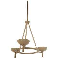Contemporary 200 Chandelier in Brushed Brass by Orphan Work, 2020