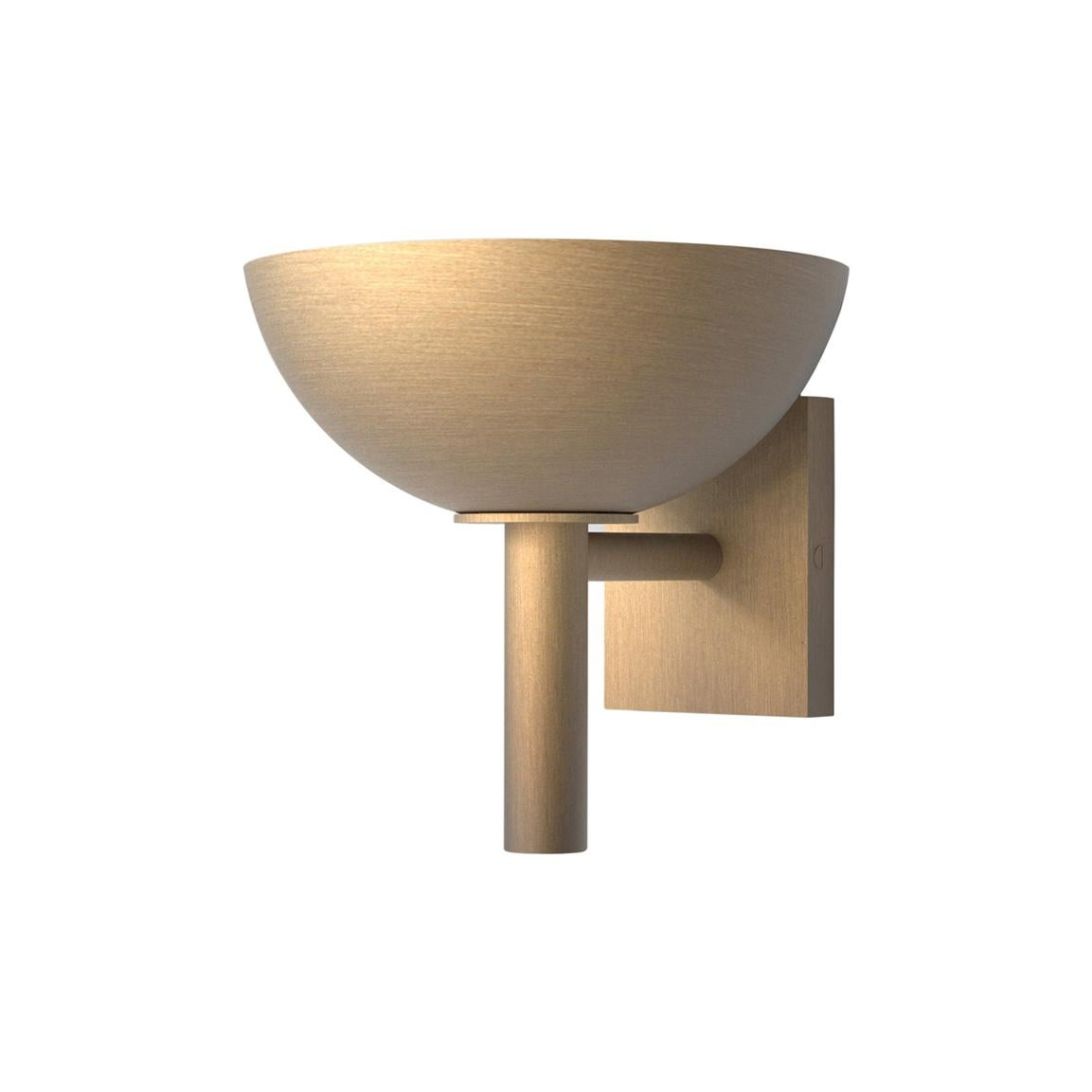 Contemporary 200 Sconce in Brushed Brass by Orphan Work