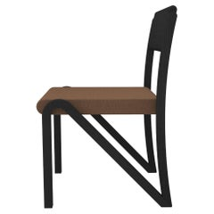 Contemporary 200 Side Chair in Blackened Oak by Orphan Work