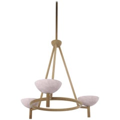 Contemporary 200A Chandelier in Alabaster and Brushed Brass by Orphan Work, 2020