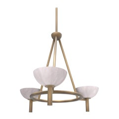 Contemporary 200A Chandelier in Alabaster by Orphan Work