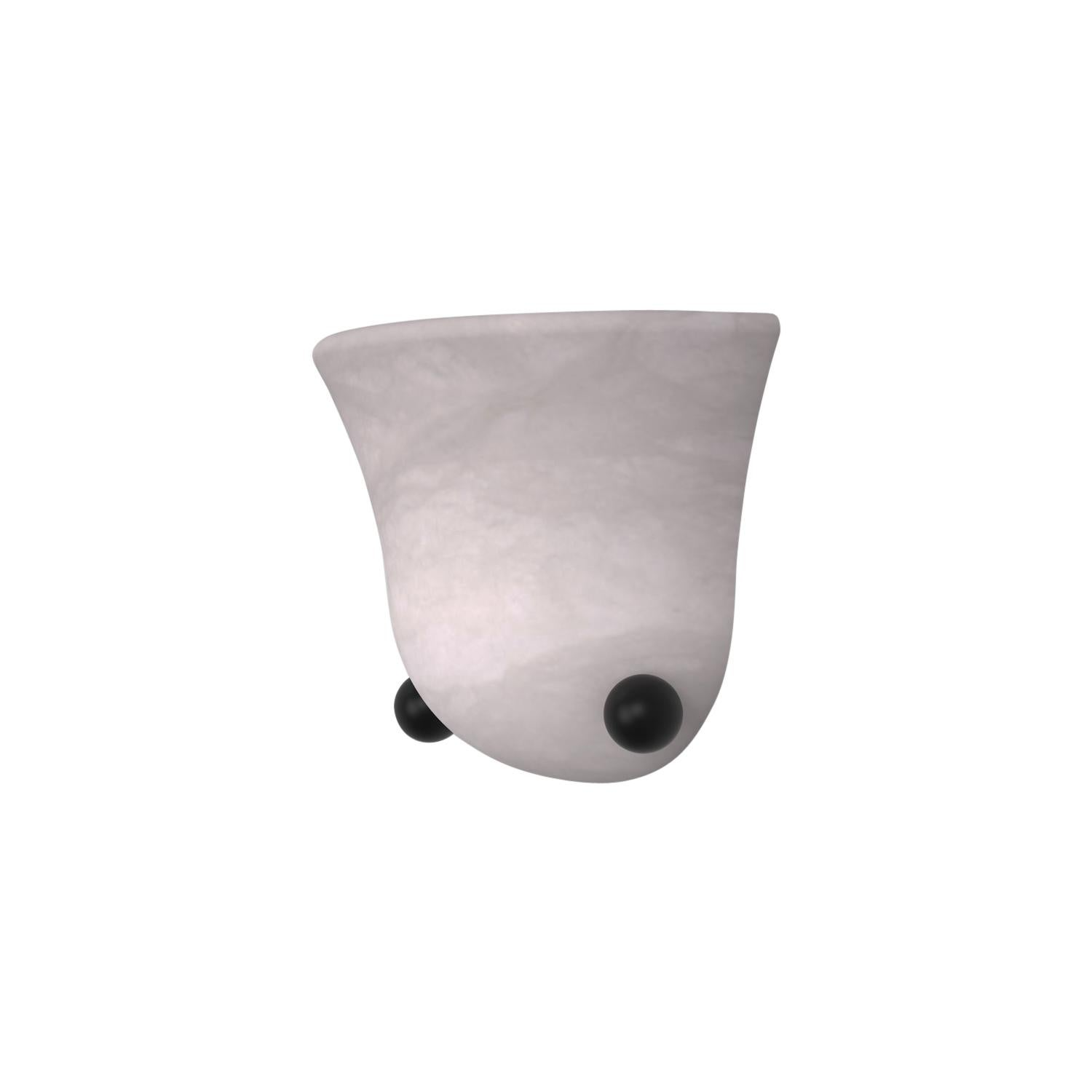 Contemporary 201A Sconce in Alabaster by Orphan Work