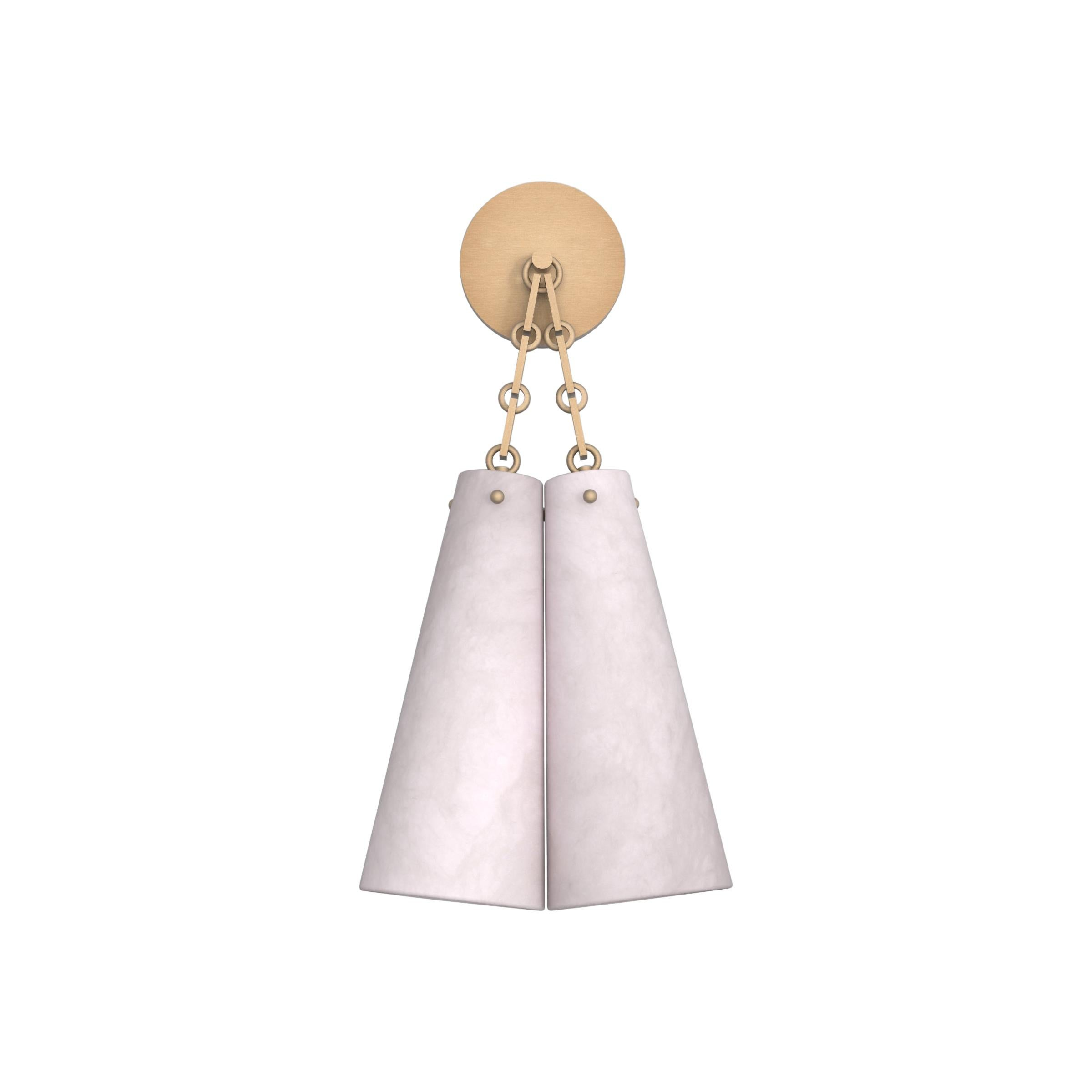 Contemporary 202A Double Sconce in Alabaster by Orphan Work, 2021