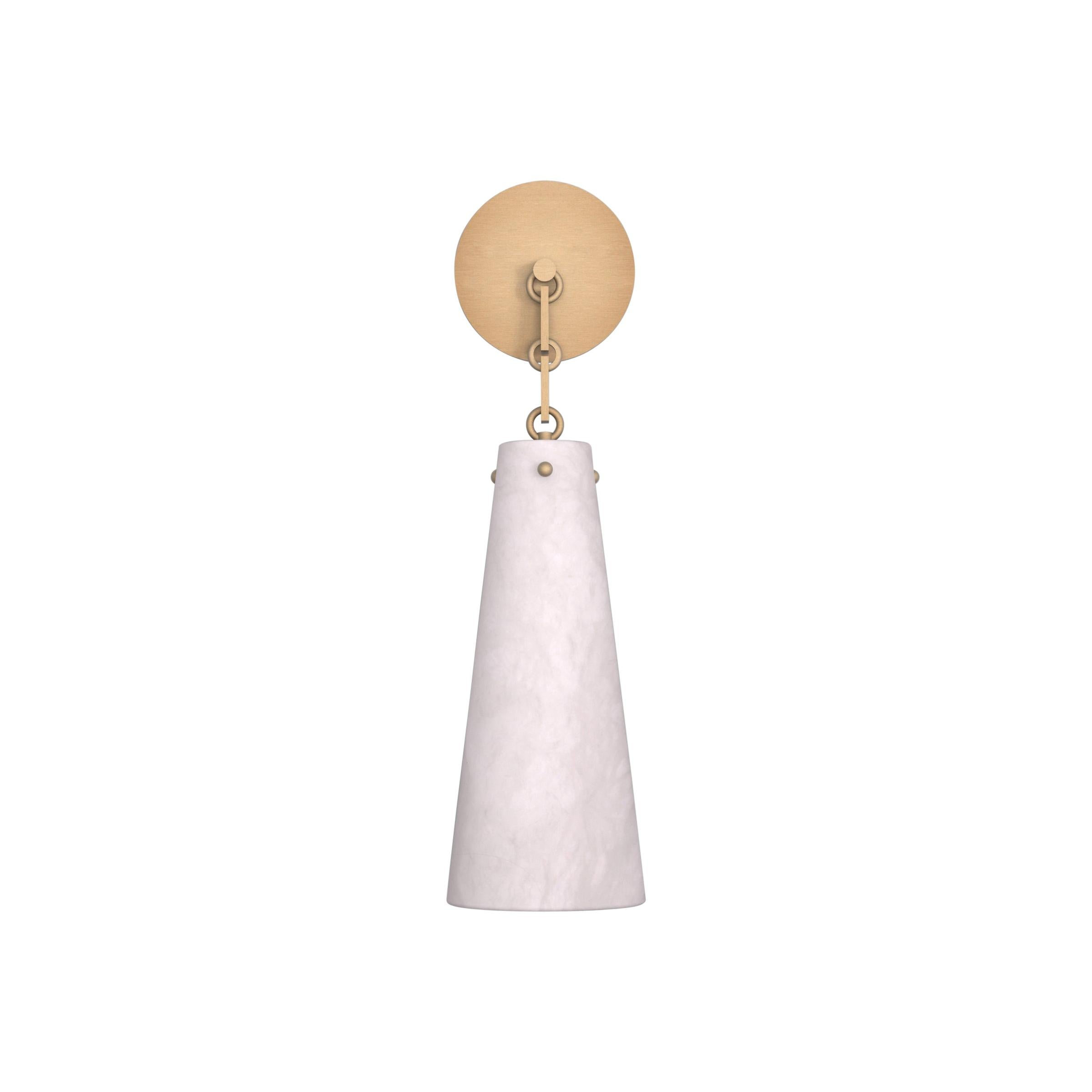 Contemporary 202A Sconce in Alabaster by Orphan Work, 2021