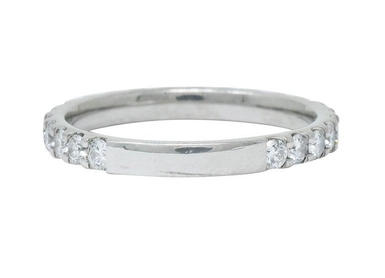 Brilliant Cut Contemporary .75 Carat Diamond Platinum Anniversary Band Ring