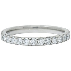 Contemporary .75 Carat Diamond Platinum Anniversary Band Ring