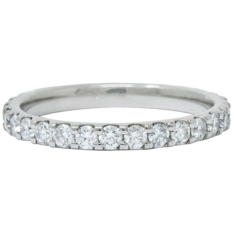 Contemporary .75 Carat Diamond Platinum Anniversary Band Ring