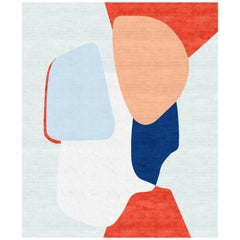 Composition X Hand-Knotted Wool and Silk 2.5 x 3.0m Rug