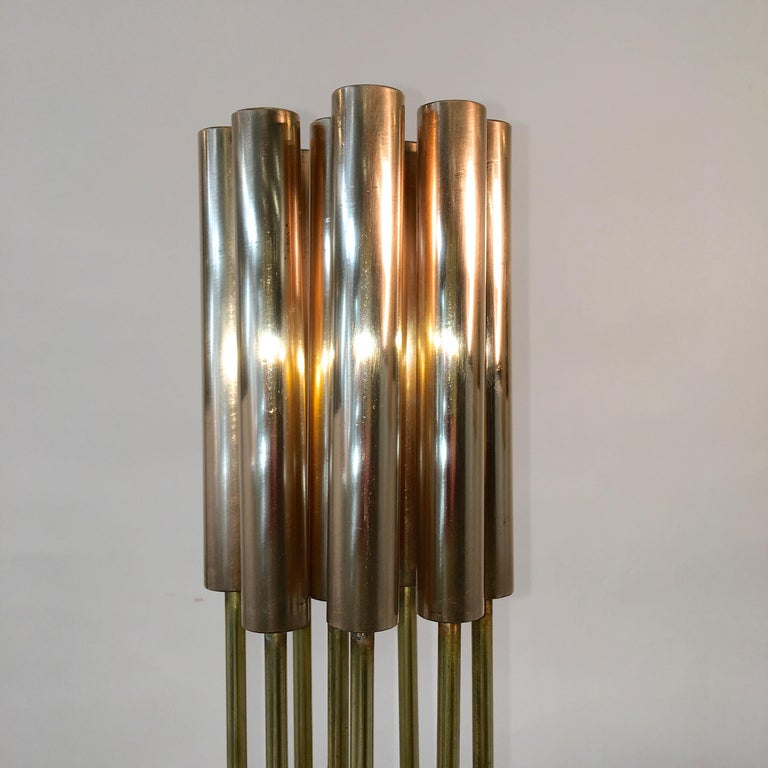 Contemporary 9-Rod Brass Kinetic Sculpture For Sale 5