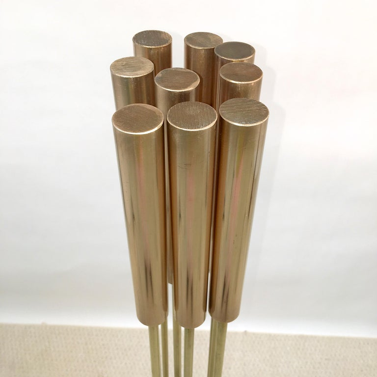 Contemporary 9-Rod Brass Kinetic Sculpture For Sale 1