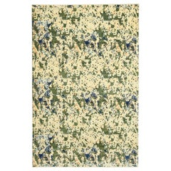Contemporary Abstract Green and Blue Wool Area Rug by Orley Shabahang