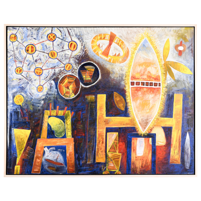Contemporary Abstract Mixed-Media Painting